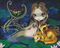 Mini Mermaid With A Golden Dragon