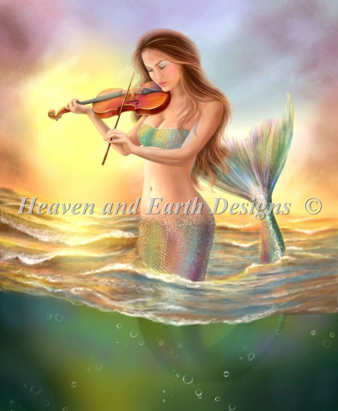 Mini Mermaid With A Violin - Click Image to Close