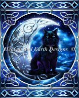 Mini Midnight Moon Celtic Black Cat