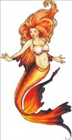 Mini Nouveau Mermaid - Fire NO Background