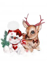 Mini Rudolph and His Snowman Pal