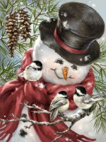 Mini Snowman Snuggles