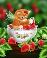 Mini Strawberry Kitten Material Pack