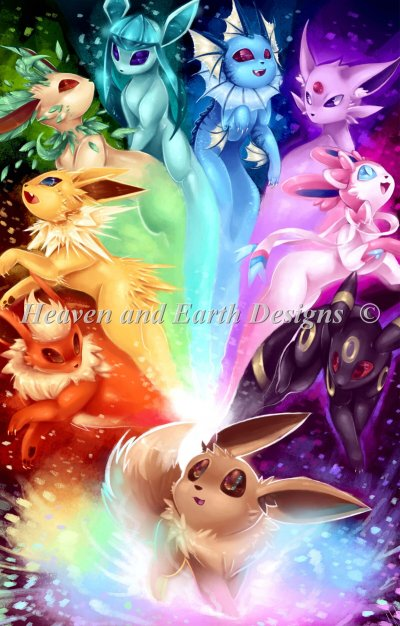 Mini The Possibilities Eeveelution Rainbow Material Pack