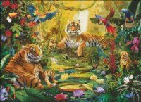 Mini Tiger Family In The Jungle