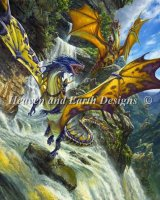 Mini Waterfall Dragons