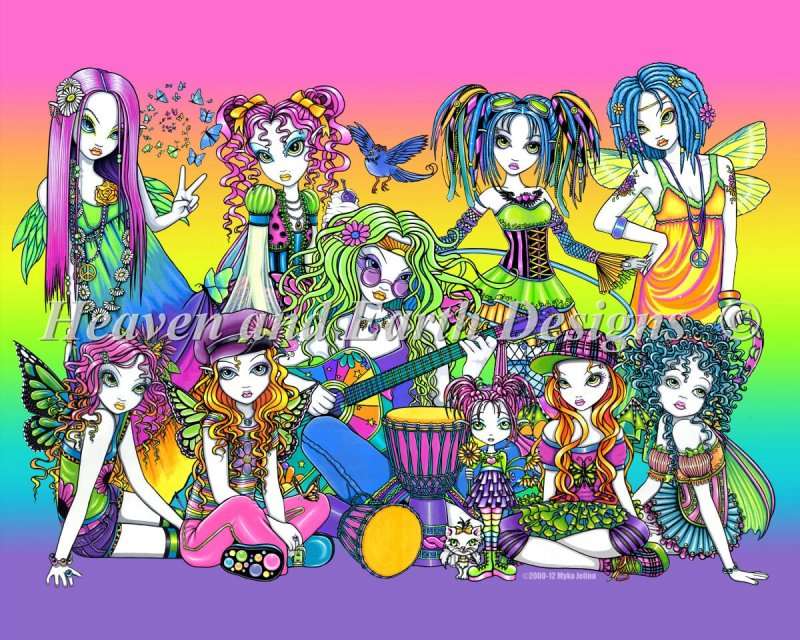 Rainbow Celebration Fairies - Click Image to Close