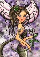 QS Black Rose Mermaid