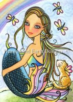 QS Rainbow Kitty Mermaid