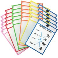 Dry Erase Pockets for Charts (SET of 6)