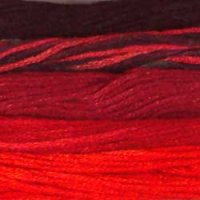 Black Reds - Collection of 5 Skeins Solid Cotton Floss