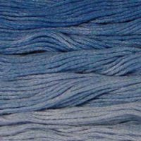 Lighter Blues - Collection of 5 Skeins Solid Cotton Floss