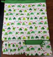 14 x 14 Project Bag Frogs