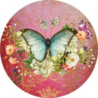 Ornament Butterfly Port Mauve