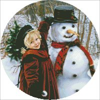 Ornament Girl Snowman