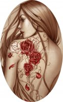 Ornament Rose Tattoo