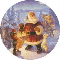 Ornament Santa Claus At The North Pole
