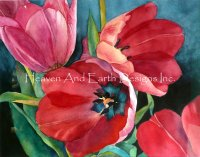 3 Red Tulips Request A Size