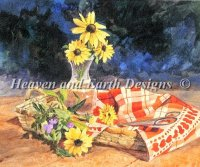 Daisys and Checkered Cloth
