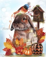 Autumn Greetings Bunny