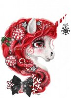 Peppermint Christmas Unicorn