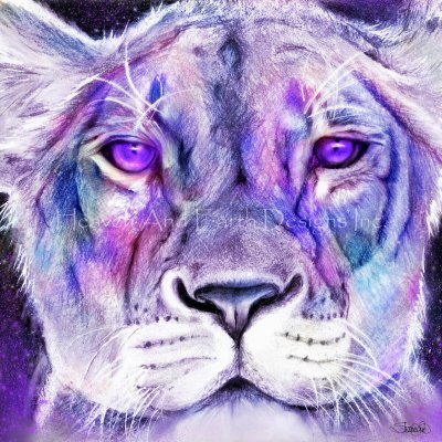 Purple Majestic Lion