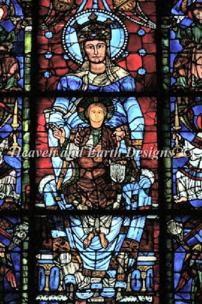 The Blue Virgin - Chartres