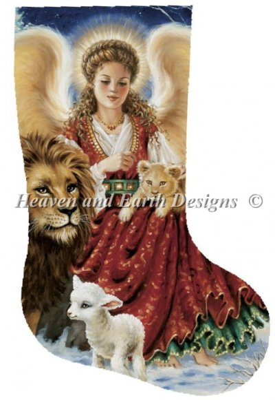 Stocking Angel Lion and Lamb
