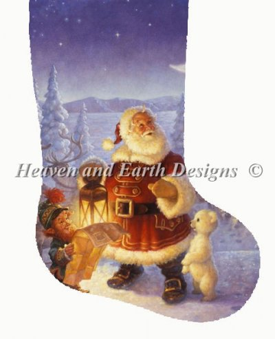 Stocking Santa Claus At The North Pole Material Pack