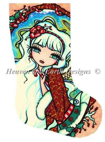Stocking Candy Cane Angel