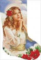 Stocking Christmas Grace Angel With Flowers