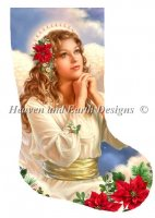 Stocking Christmas Grace Angel With Flowers Material Pack