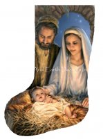Stocking Holy Family Flipped