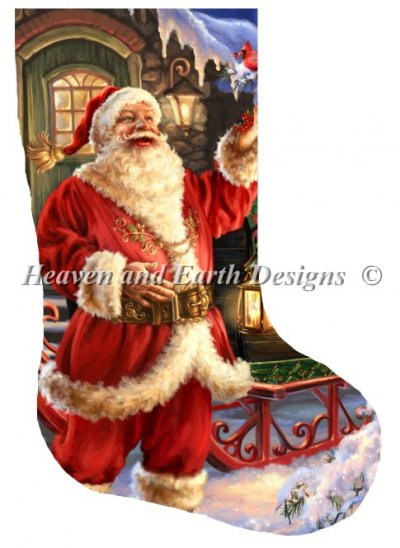 Stocking Joyful Saint Nick