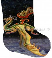 Stocking Saint Nicholas Dragon Sleigher