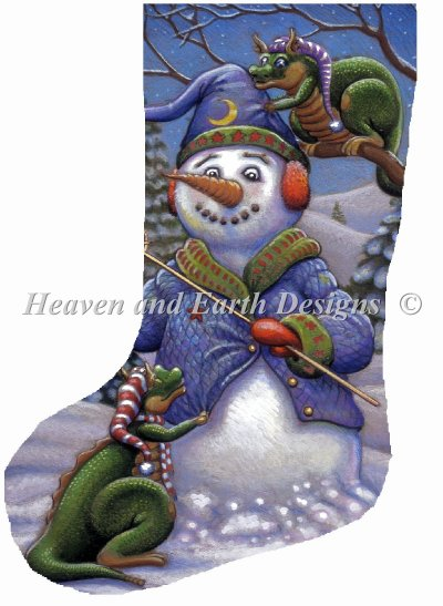 Stocking Snowman Magic