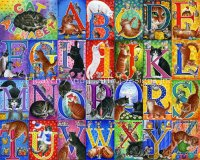Supersized Cat Alphabet Max Colors