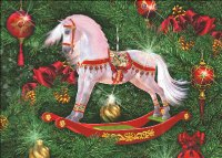 Supersized Christmas Rocking Horse Max Colors