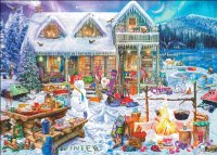 Supersized Family Winter Cabin Max Colors
