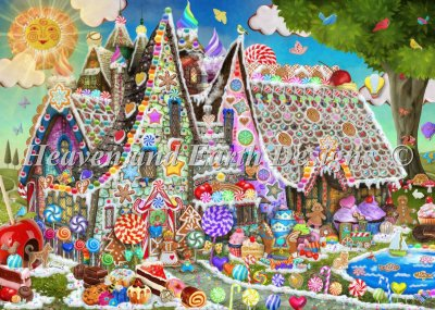 Supersized Gingerbread Manor Max Color