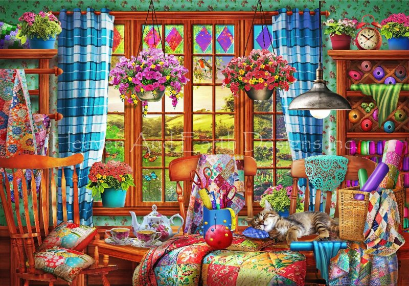 Supersized Patchwork Quilt Room Max Colors - Click Image to Close