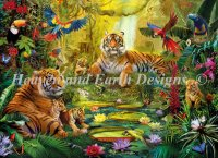 Supersized Tiger Family In The Jungle Max Color Material Pack