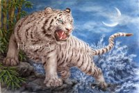 Supersized White Tiger And The Waves Max Colors