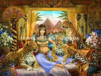 Supersized Egyptian Queen of the Leopards Material Pack
