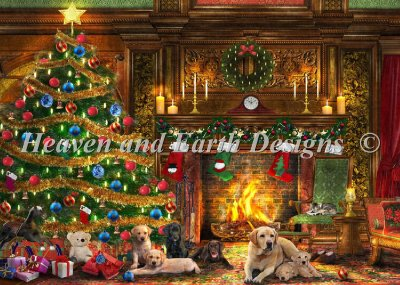 Supersized Festive Labradors Max Color