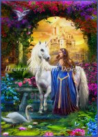 Supersized Princess And The Unicorn In The Cloisters Max Colors