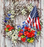 Supersized Patriotic Wreath NO BK