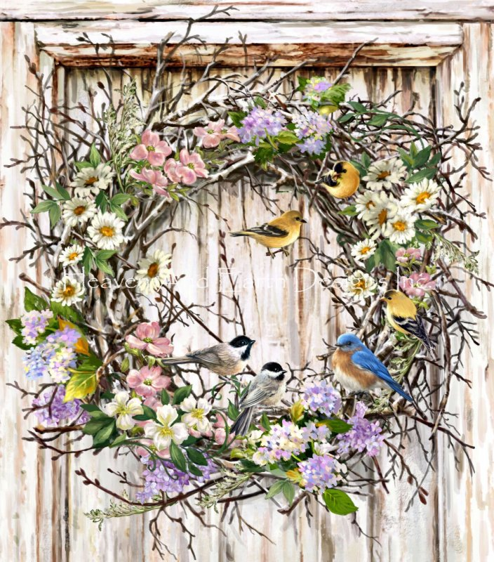 Supersized Spring Wreath NO BK - Click Image to Close