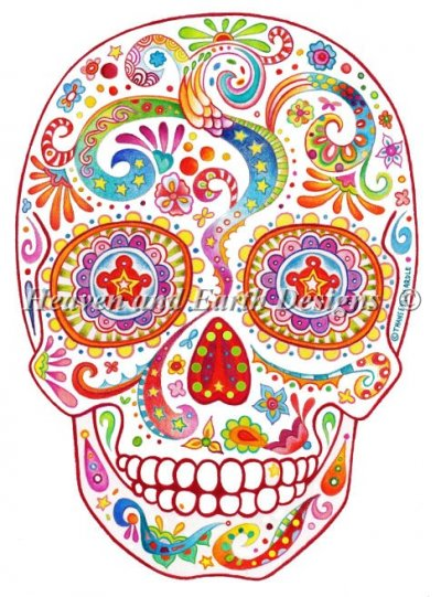 Psychedelic Sugar Skull Material Pack