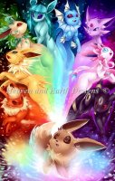 Mini The Possibilities Eeveelution Rainbow Max Color Material Pack